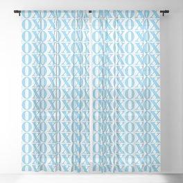 Light Blue XOXO Sheer Curtain