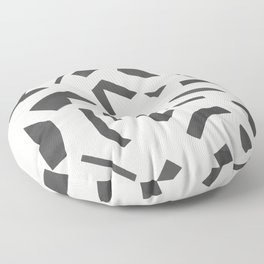 Cut Out - Black Floor Pillow