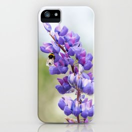 Bumblebee and lupine iPhone Case