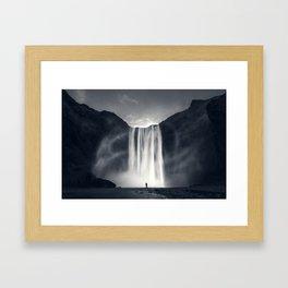 Stormy Skogafoss Framed Art Print