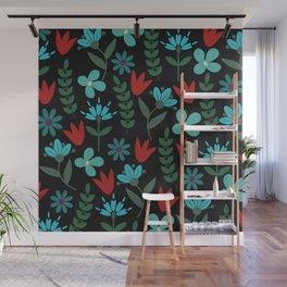 Flower Pattern XV Wall Mural