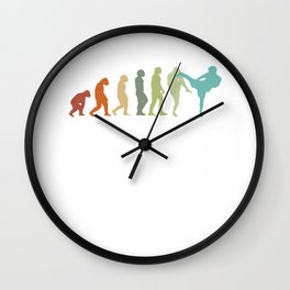 Karate Evolution Muay Thai Taekwondo Ju-Jutsu Kung-Fu Karate Wall Clock