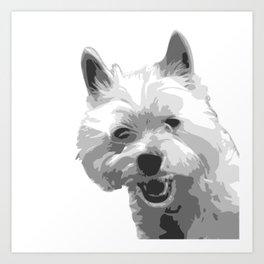 The Happy Westie Art Print