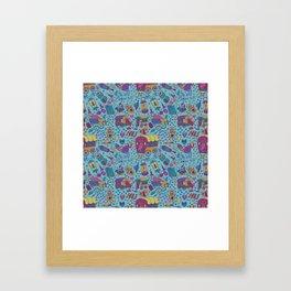 Caravan Pattern Framed Art Print