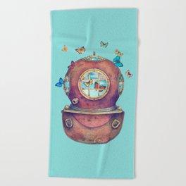 Inner Space - colour option Beach Towel