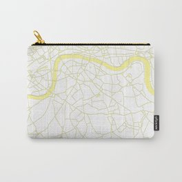 London White on Yellow Street Map Carry-All Pouch