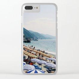 Sunbathers in Cinque Terre Clear iPhone Case