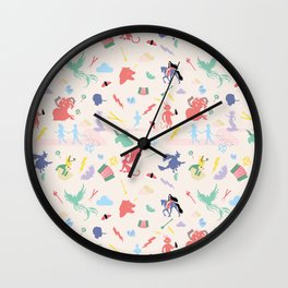 Mythological pattern Wall Clock