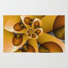 Rising, Modern Fractal Art Spiral Rug