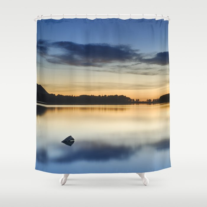 Sunset At The Lake Shower Curtain By Guidomontanes