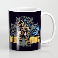 vikings Mugs featuring Nordic Vikings by TsHirtZmaNia
