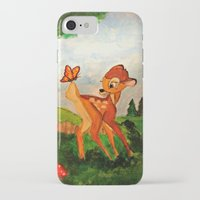 bambi iPhone & iPod Cases featuring Bambi by Jadie Miller