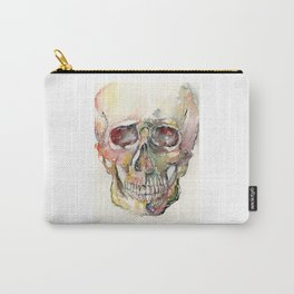 Human Skull Painting Carry-All Pouch