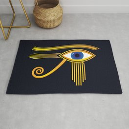 Eye of Horus Gold Ancient Egyptian Amulet Rug
