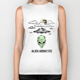 Alien Abductee Funny UFO Extraterrestrial Nerd Believer Biker Tank