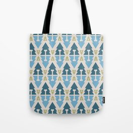 X-Mas Dog surface pattern (blue-green) Tote Bag