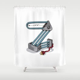 MACHINE LETTERS - Z Shower Curtain