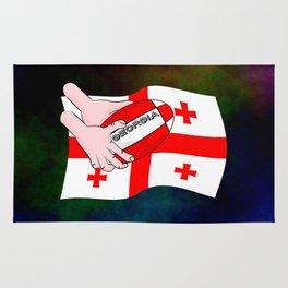 Rugby Georgia Flag Rug