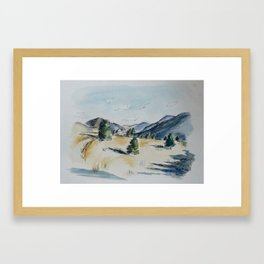 Day Hiking: The Saddle Framed Art Print