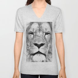 Lion, Animal, Scandinavian, Minimal, Trendy decor, Interior, Wall art Art Unisex V-Neck