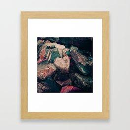 heart of stone Framed Art Print