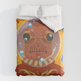 Great Konkkrorr of Spaitsss #pixelart #retro #scifi Comforters