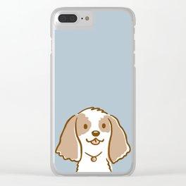 Cocker Spaniel Cartoon Dog Clear iPhone Case
