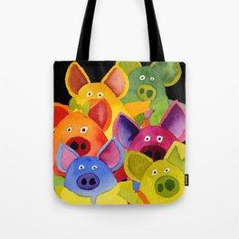Fun Pigs Tote Bag