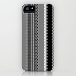Gray Stripes Abstract iPhone Case