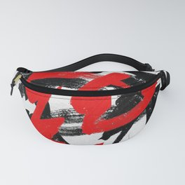 Black and red Fanny Pack