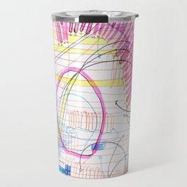 ballpoint pen and highlighter on printer paper #3 Travel Mug