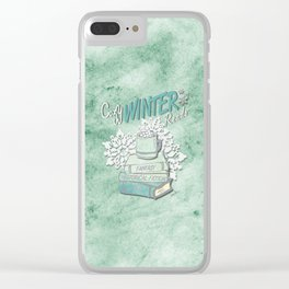 Cozy Winter Reads Clear iPhone Case