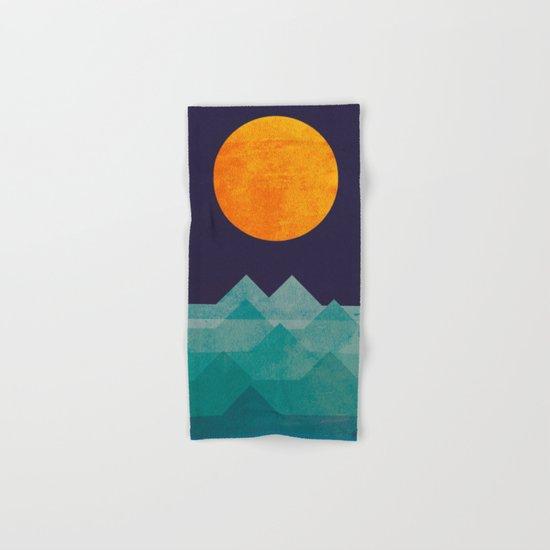 The ocean, the sea, the wave - night scene Hand & Bath Towel