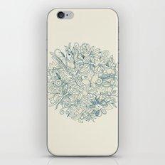 Denim flower circle iPhone & iPod Skin