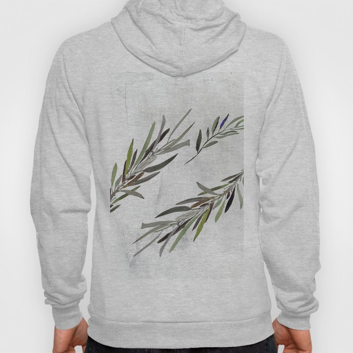 Eucalyptus Leaves White Hoody