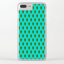 Hops Cyan Pattern Clear iPhone Case
