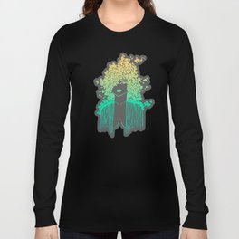 Silhouette gradient of a girl Long Sleeve T-shirt
