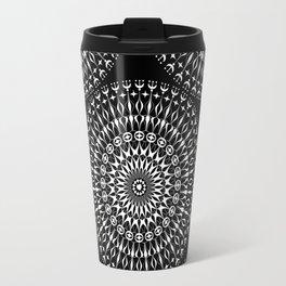 Geometries in white. Travel Mug
