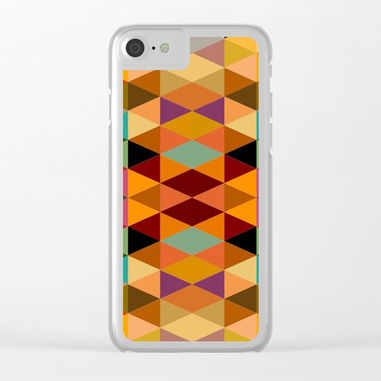 Middle Triangles Clear iPhone Case