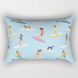 surfers watercolor pattern Rectangular Pillow