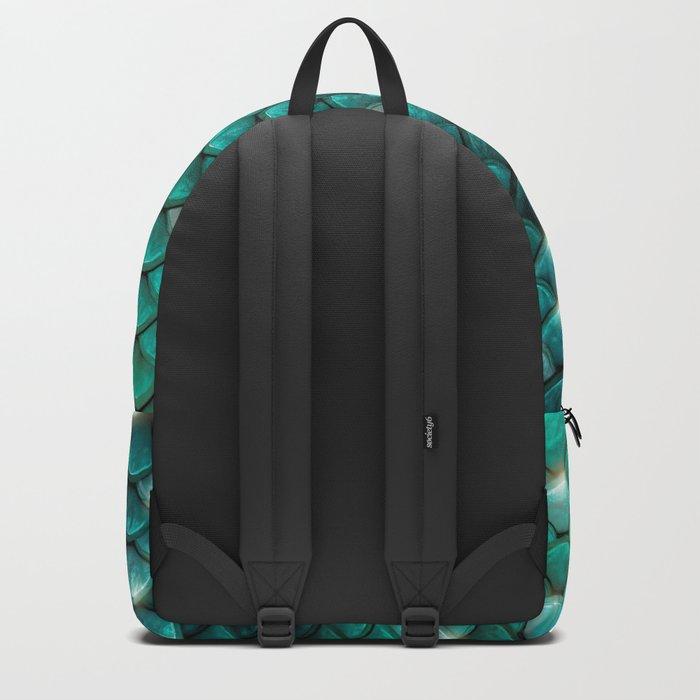 Turquoise sparkling mermaid glitter scales- Mermaidscales Backpack