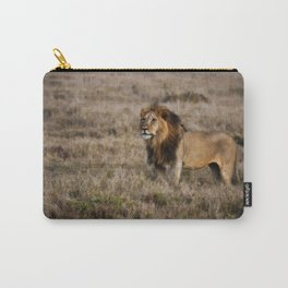 African Lion in Kenya Carry-All Pouch