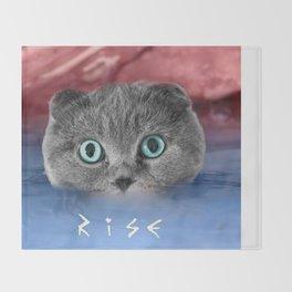 Scottis Fold Cat- Kitten Katy Throw Blanket