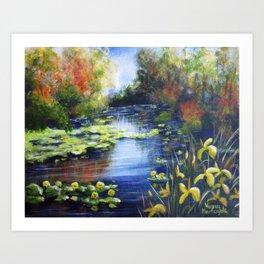 Magical lake Art Print