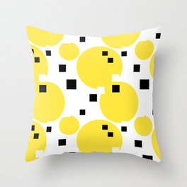 Abstract New York Yellow Taxi Throw Pillow
