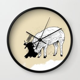 Locals Only - Cardiff, Wales Wall Clock