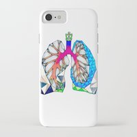 lungs iPhone & iPod Cases featuring Lungs by Heidi Failmezger
