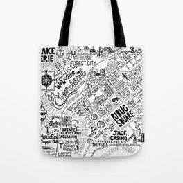 Cleveland Ohio Map Tote Bag