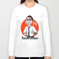 pacific rim Long Sleeve T-shirts featuring Pacific Rim Kaijuu Groupie  by TheDigitalPandora
