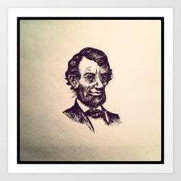 Abe Lincoln Forever. Art Print